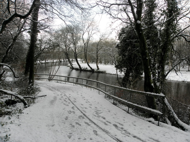 Wintry along the Camowen River