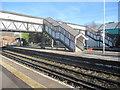 SJ3478 : The historic footbridge at Hooton railway station 2010 by John S Turner