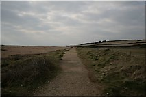 SY5088 : South-west coast path at Cogden Beach by Becky Williamson