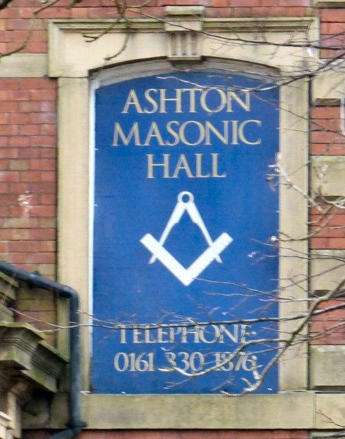 Sign of Ashton Masonic Hall