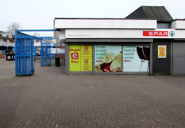 South side of Spar (Blakemore Retail) in Bettws Shopping Centre, Newport