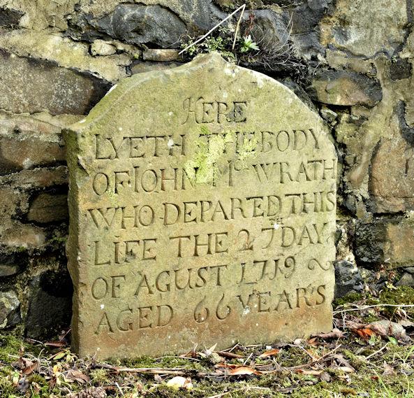 John McIlwrath headstone, Shankill Graveyard, Belfast (March 2016)