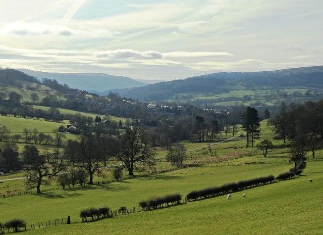 View from Ridgeway Side to Hathersage