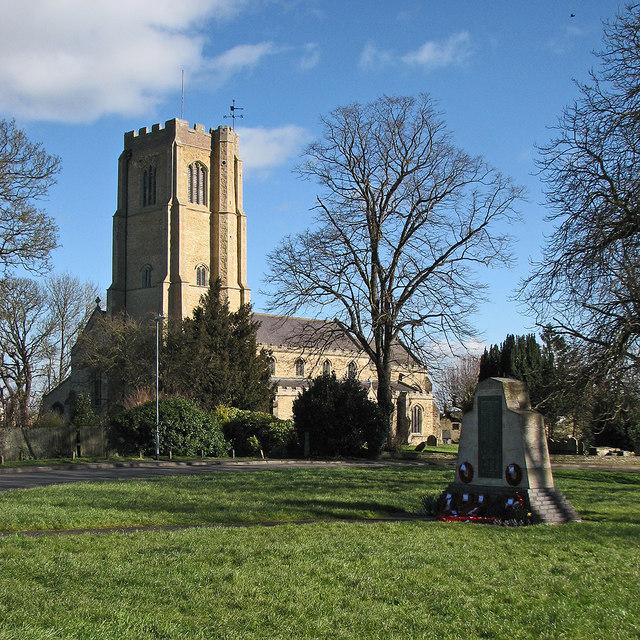 Littleport: parish church and war memorial