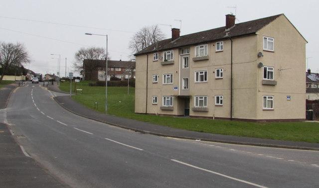 Three-storey block of flats, Bettws, Newport