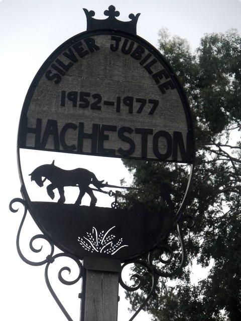 Hacheston village sign