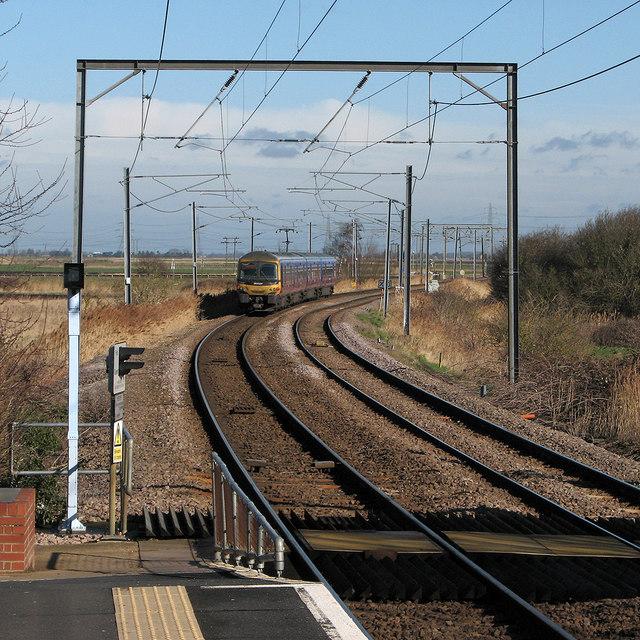 Lynn train leaving Littleport