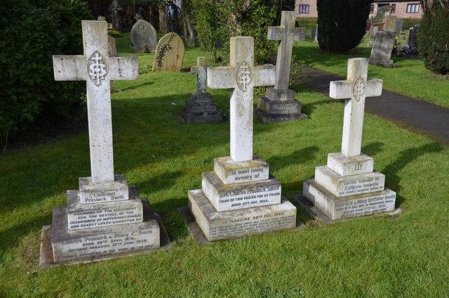Grave of Constance Penswick Smith, Coddington church
