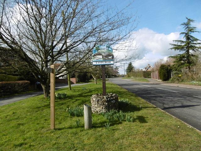 The village sign at Tasburgh