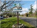 TM2095 : The village sign at Tasburgh by Marathon