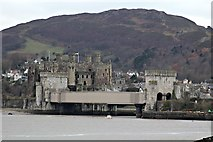 SH7877 : Conwy Castle and the tubular bridge by Richard Hoare