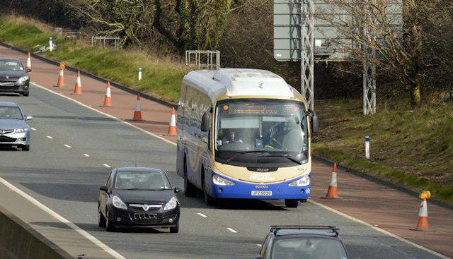 Ulsterbus Cookstown Express, M1, Ballyskeagh (March 2016)