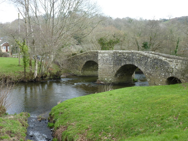 Spara Bridge over the River Teign, Ashton