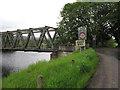 NJ0628 : Weak bridge over the Spey by Hugh Venables