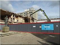 SO8554 : Demolishing the former Gifford Hotel by Philip Halling