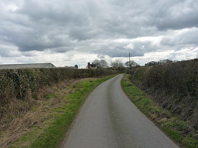 Woollaston Lane near Eaton Brook Farm
