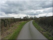 SJ8615 : Woollaston Lane near Eaton Brook Farm by Richard Law