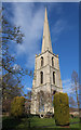 SO8454 : Spire of the former St Andrew's Church, Worcester by Julian Osley