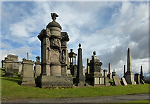 NS6065 : Glasgow Necropolis by Mary and Angus Hogg