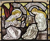 SK8354 : Detail, east window, All Saints' church, Coddington by J.Hannan-Briggs