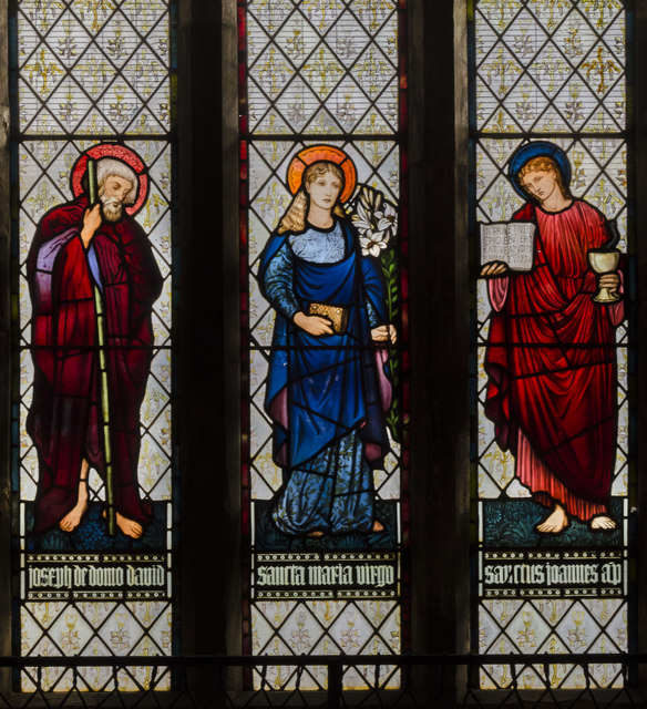 Stained glass window, All Saints' church