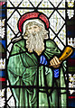 SK8354 : Detail of Stained glass window, All Saints' church, Coddington by J.Hannan-Briggs