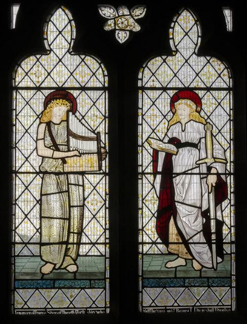 Stained glass window, All Saints' church, Coddington