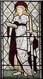 SK8354 : Detail of St Catherine window, All Saints' church, Coddington by J.Hannan-Briggs