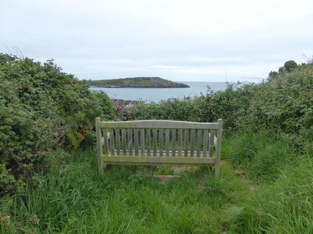 Bench beside the Coastal Path