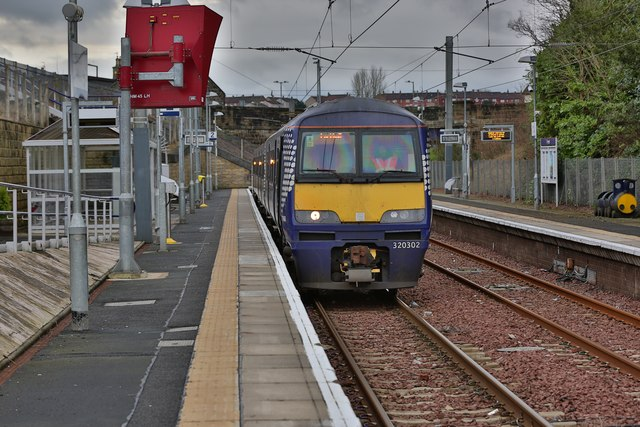 Larkhall Train Station in South Lanarkshire