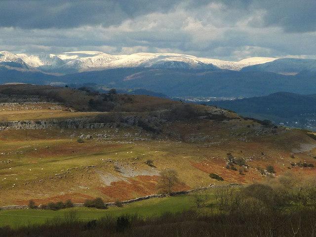 Sunlight on Newbiggin Crags