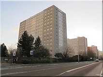 TA0828 : Tower blocks, Anlaby Road, Hull by Stephen Craven