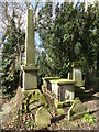 TF4510 : Obelisk and tomb chest in the General Cemetery, Wisbech by Richard Humphrey