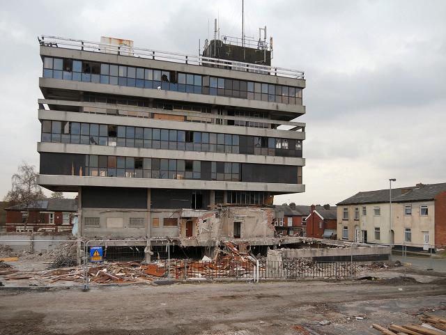 Former Police Headquarters Demolition (February 2016)