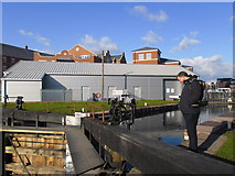 SO8453 : Winter or Spring at Diglis Top Lock? by Basher Eyre