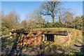 TQ2552 : Bunker, Reigate Hill by Ian Capper