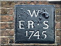 TF4609 : The Five Bells (Date stone) - Public Houses, Inns and Taverns of Wisbech by Richard Humphrey