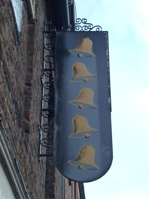 The Five Bells (Sign) - Public Houses, Inns and Taverns of Wisbech