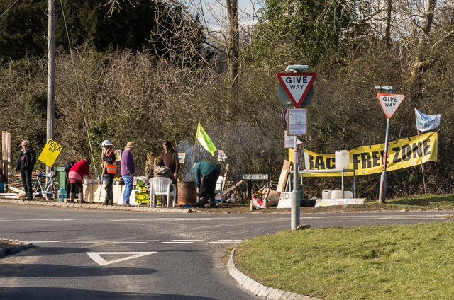 Anti-fracking protest, Horse Hill