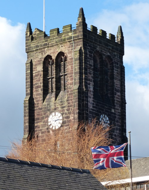 The tower of St Lawrence's Church in Heanor