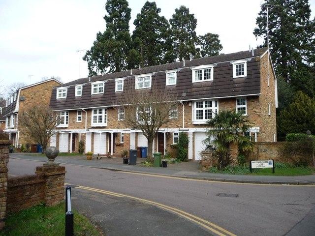 Houses on Westbury Lodge Close, off Chapel Lane