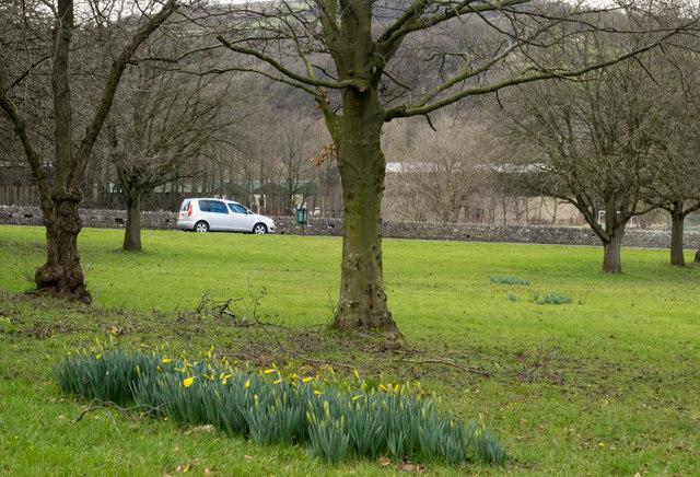 Grassed area at Calver