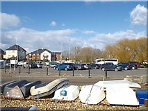 SZ1592 : Christchurch Quay car park by Jonathan Hutchins