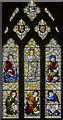 SK8251 : Stained glass window, St Giles' church, Balderton by Julian P Guffogg