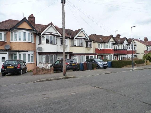 Houses in blocks of three, Yeading Avenue