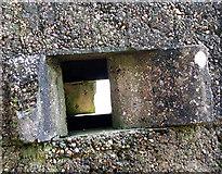 TG1407 : WW2 Pillbox (detail) by Evelyn Simak