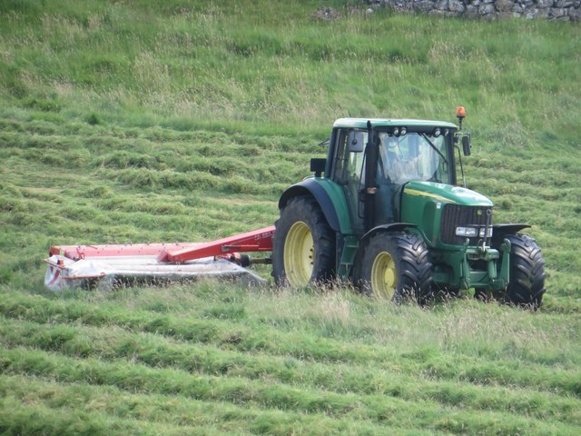 Mowing grass at High Cross Lathe