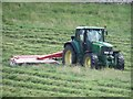 SE0063 : Mowing grass at High Cross Lathe by Graham Robson