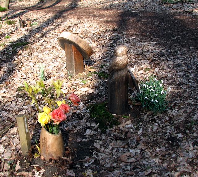 Grave markers at GreenAcres