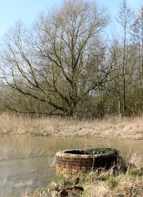 Old tank beside the River Yare